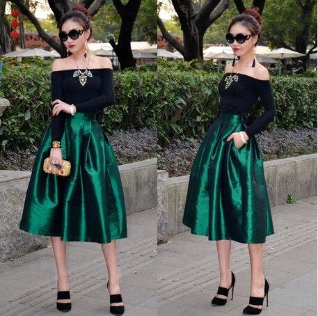 Vintage De 2014 Style Haute Printemps Jupes Été Bal Robe Piste Jupe Femmes Mode Partie Longue Européenne Nouvelle Qualité ztOtwq
