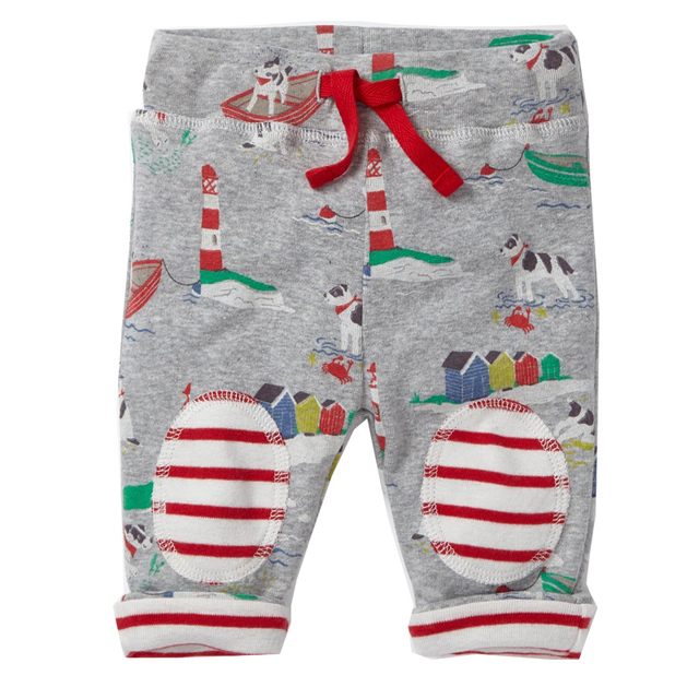 Boys' Soft Cotton Pants with Drawstring