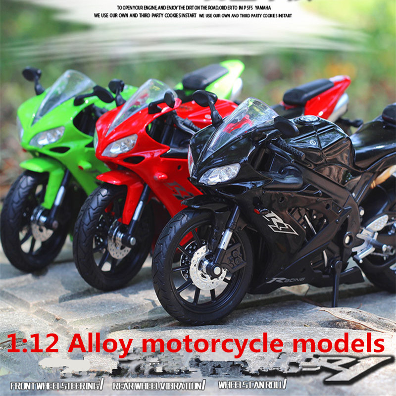 1:12 Alloy <font><b>motorcycle</b></font> <font><b>models</b></font> ,high simulation metal casting <font><b>motorcycle</b></font> toys,Yamaha YZF-R1 Road Racing,free shipping image