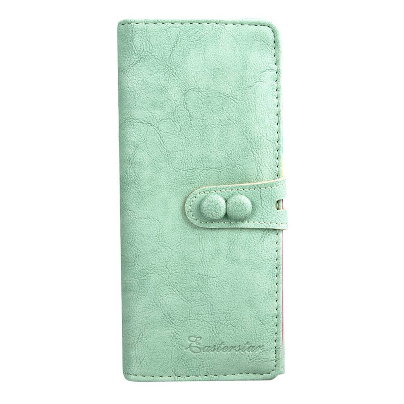 New Fashion Women Wallet PU Leather Famous Brand Popular Casual Long Wallets Card Holder Bag Female Purse Blosa new fashion women leather wallet deer head hasp clutch card holder purse zero wallet bag ladies casual long design wallets