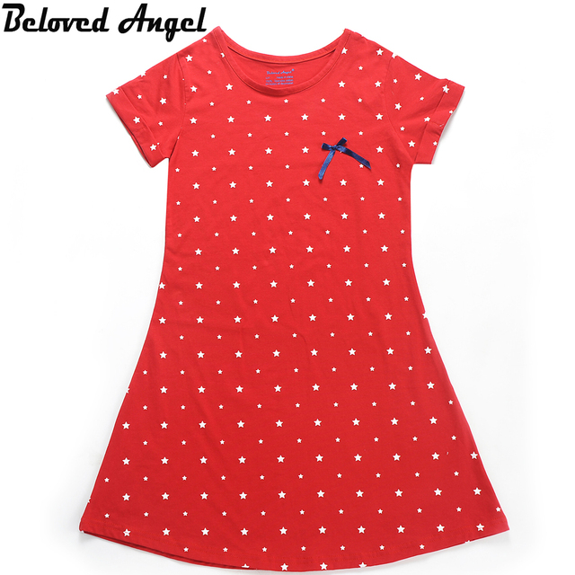 Beloved Angel New Design Baby Girls Dress Summer Children Girl 4 Style Dresses Kids Princess Bowknot Dresses 1 - 13 Years