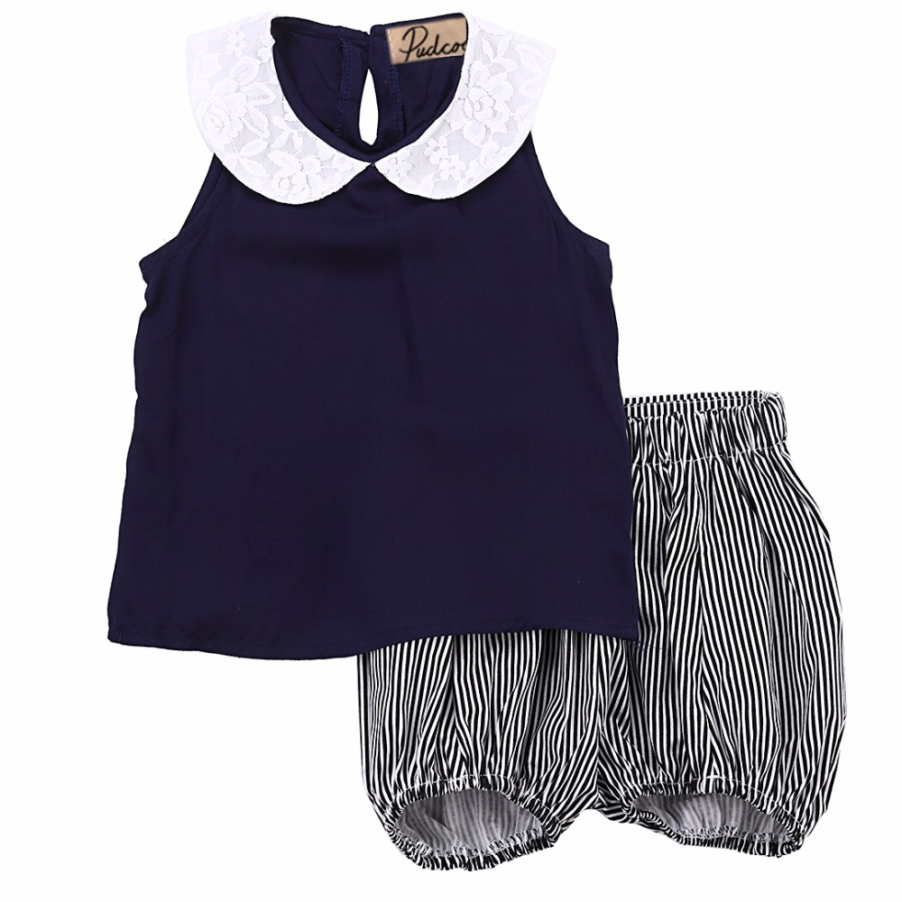 2Pcs!! Toddler Kids Baby Girls T-shirt Tops+short Pants Set Kids Clothes Outfits baby set girls stripe i woke up like this toddler shirt pants 2pcs outfits set