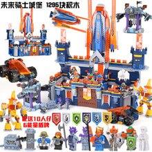 Cavaleiros Castelo Modelo de Knighton Lepin 14037 Montar Blocos de Construção Tijolos Brinquedos Para Crianças Jogos Nexus Compatível 70357