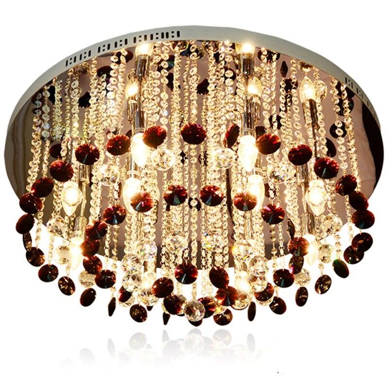 Moderne Durchmesser 80 Cm Hhe 42 Kristall Lampe Lila Deckenleuchte Top K9 Wohnzimmer