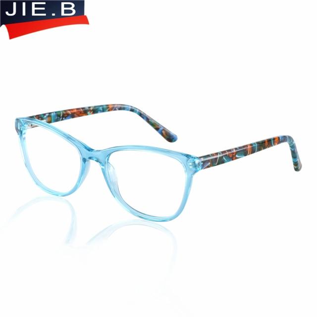 8711d228c5 B Acetate Myopia Optical Glasses Frame Women Prescription eyeglasses frames  Brand EyeGlow Square Retro Eyeglasses Frames