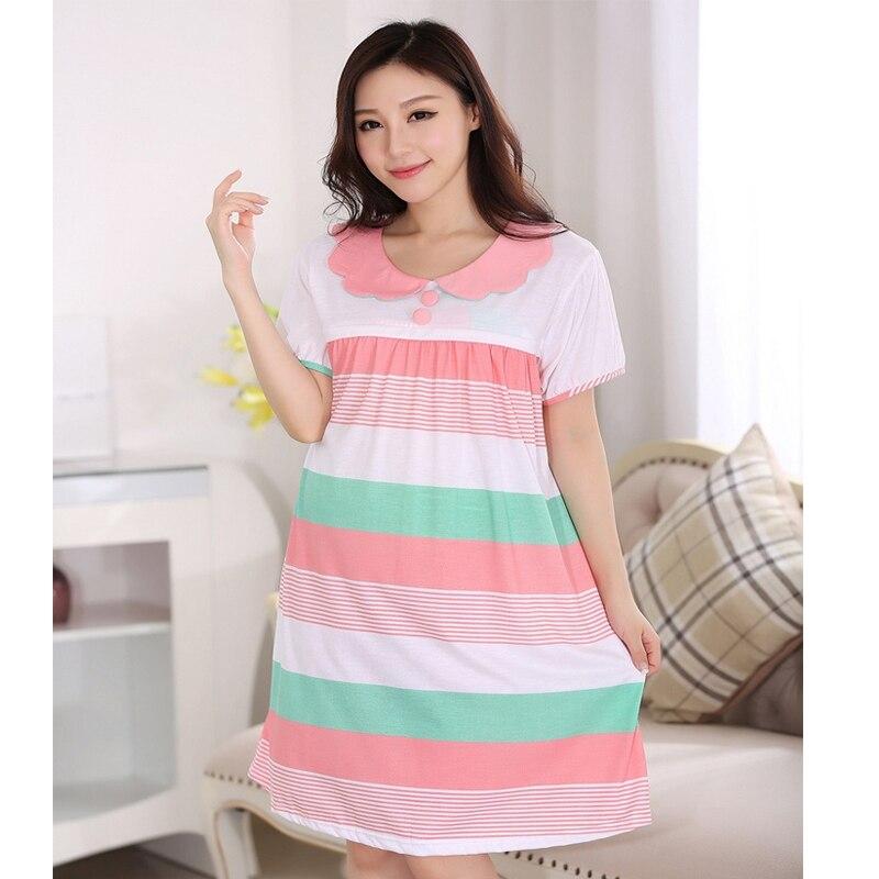 b8e05265c Rayas vestidos De Enfermería embarazo albornoz ropa para mujeres embarazadas  Maternidad pijamas pijamas batas para las amas de casa en Para dormir y ...