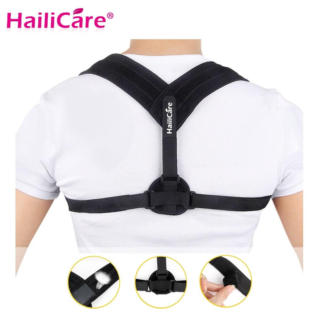 La parte superior de la espalda Corrector de postura de la clavícula apoyo cinturón encorvado correctivas postura corrección columna tirantes apoya la salud