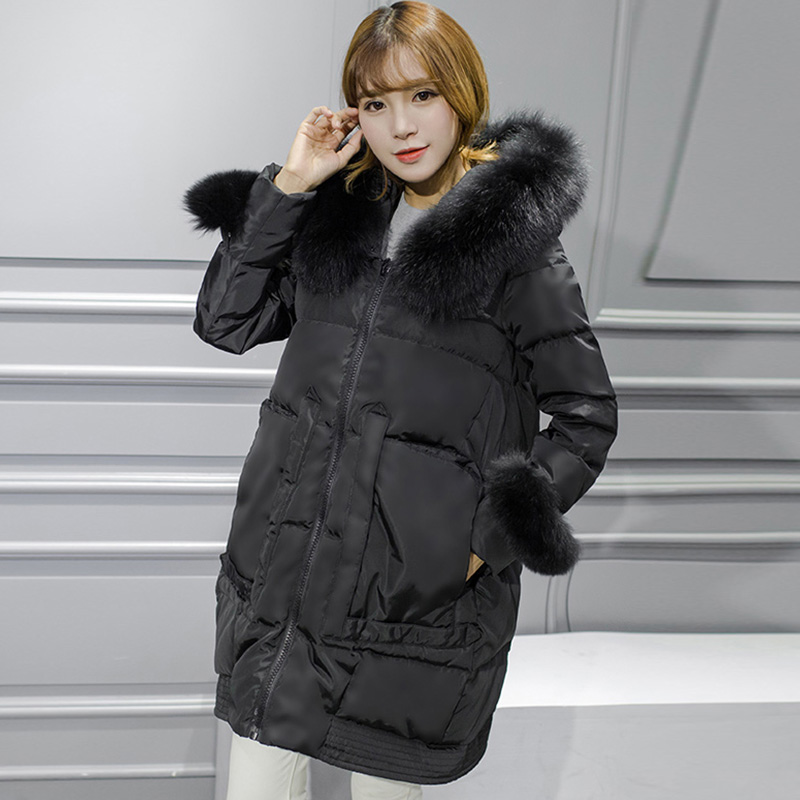 BRIGHT GIRL Winter Jacket Women White Duck Down Jackets Cheap Down ...