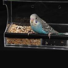Любимая игрушка попугай птица Еда коробка большая Размеры Открытый Автоматическая птица воды Еда подачи Pet Bird продукты анти столкновения носимых