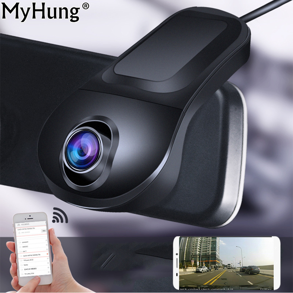 Newest Night Vision Car DVR Camera Full HD 1080P Registrator Parking Recorder Video 170 Degree Wireless WiFi APP Manipulation 2 7 car dvr dual camera full hd 1080p allwinner car camera recorder front 140 rear 120 degree night vision hdmi g30b
