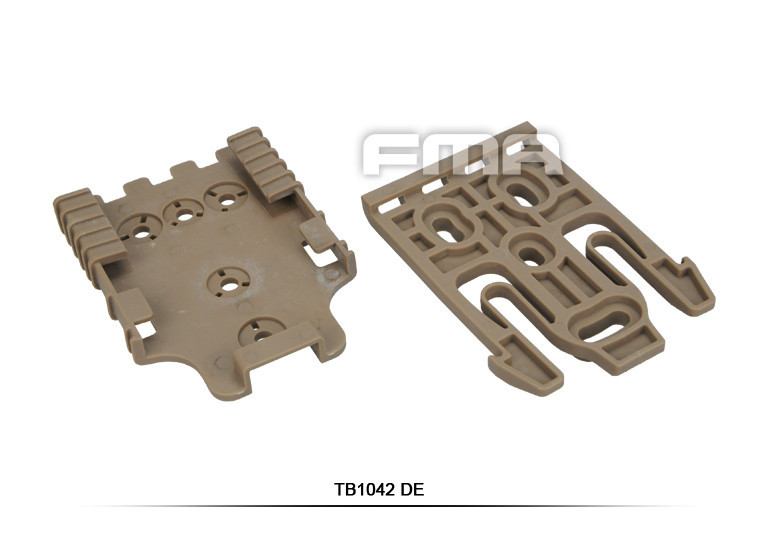 Tactical MOLLE Locking System 35-QL19 0305 QL19 Quick Lock Holster Fork BK//DE