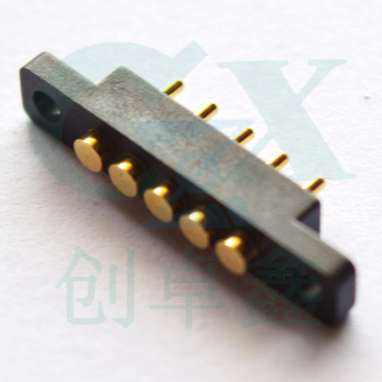 male gold plating pitch 2.54mm 7.0mm pin height heavy current 2A pogo pin connector