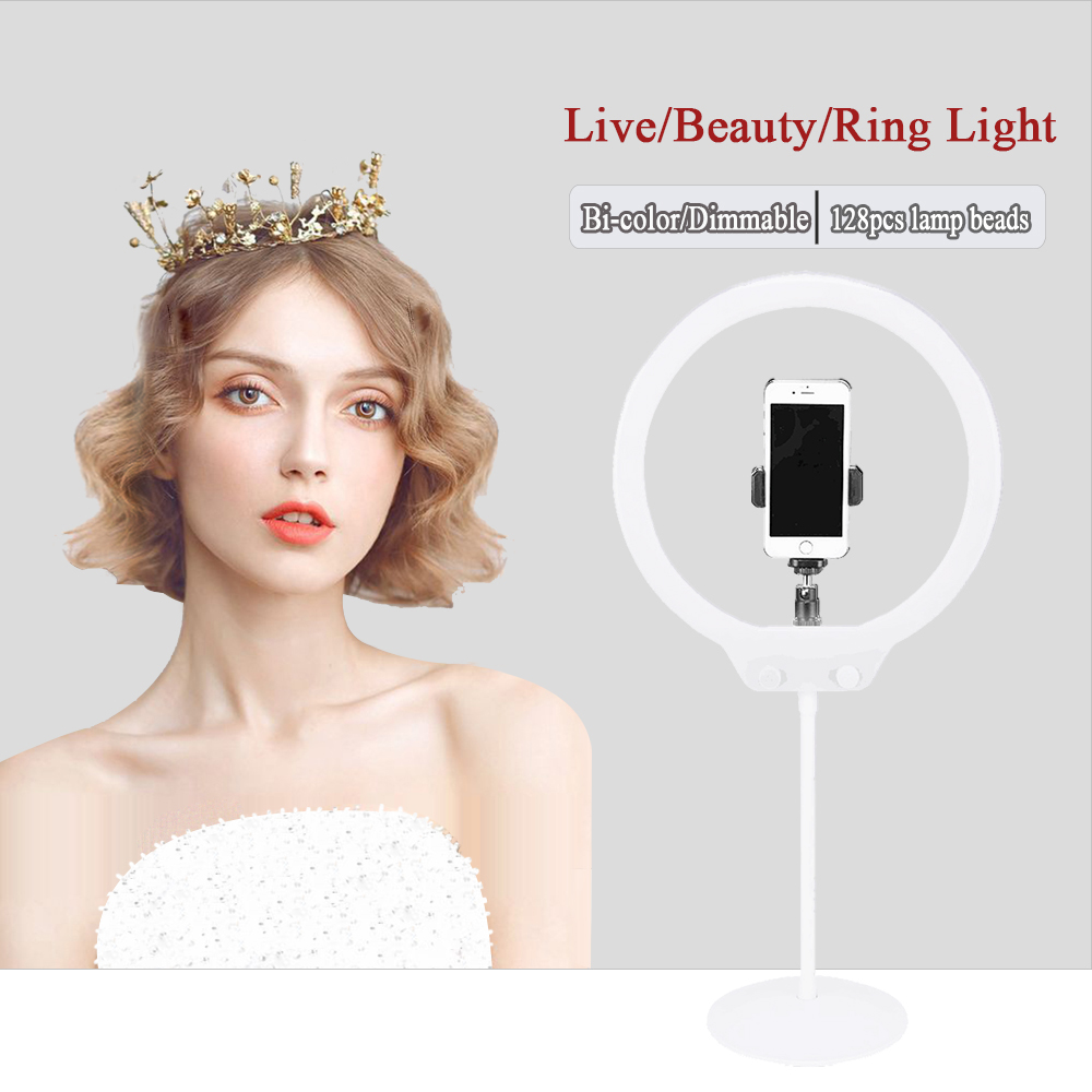 ZOMEI 128 Fotografie Selfie ring licht Dimmbare LED Video Studio Licht für Canon Pentax Sony Nikon DSLR Kamera für Telefon xiaomi