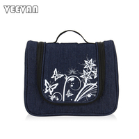 VEEVAN 2016 Fashion Print Design Jeans Cosmetic Bag Women Men Casual Travel Multifunctional Organizer Handbag Storage