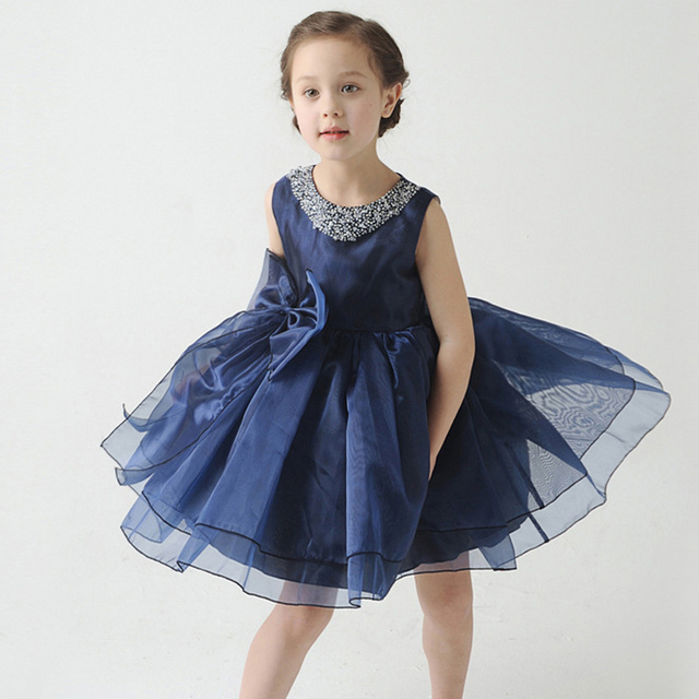 36d338501fa87 New Year Child Princess Dress for Girls Diamond Mimi Tutu Wedding Flower  Girl Lace Bow White Party Dresses Kids Clothes-in Dresses from Mother & Kids