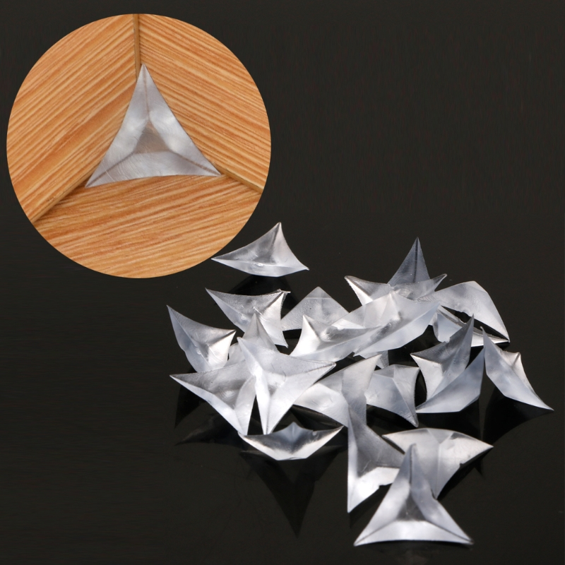 100PCS PP Clear Anti Dust Edge Triangles For Furniture Cabinet Drawer Corners