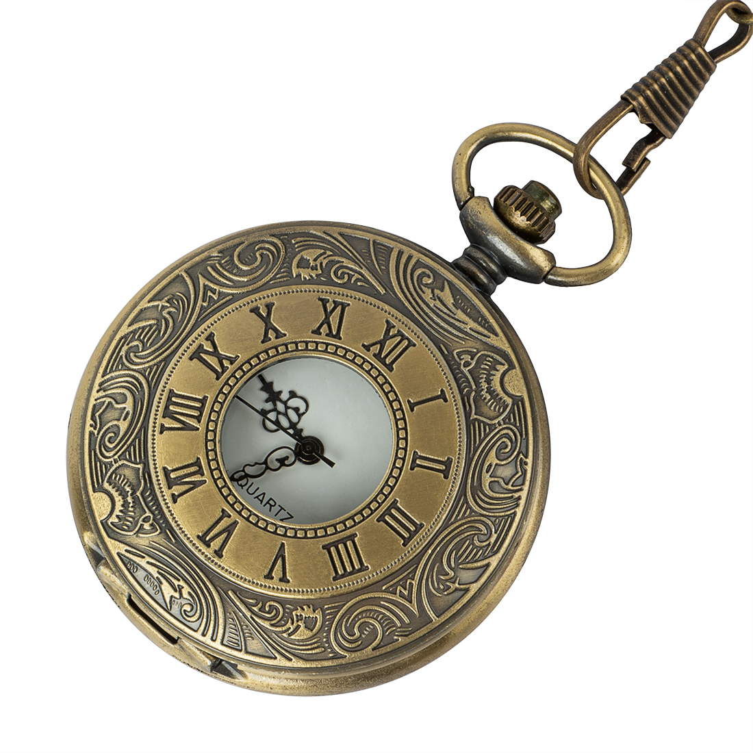 Vintage Bronze Steampunk Pocket Watch Quartz Necklace Pocket & Fob Watches Chain Men Women Clock