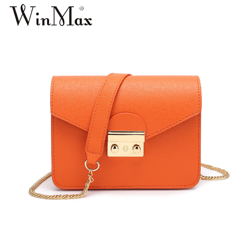 Winmax summer brand small shoulder bag for women messenger bags ladies simple handbag chain female crossbody flap bag 10 colors 2017 fashion all match retro split leather women bag top grade small shoulder bags multilayer mini chain women messenger bags