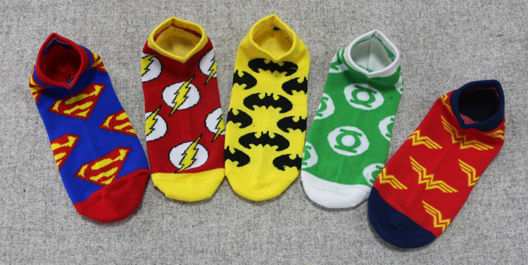 DC Superhero-Pattern Short Socks - Super Comics Online