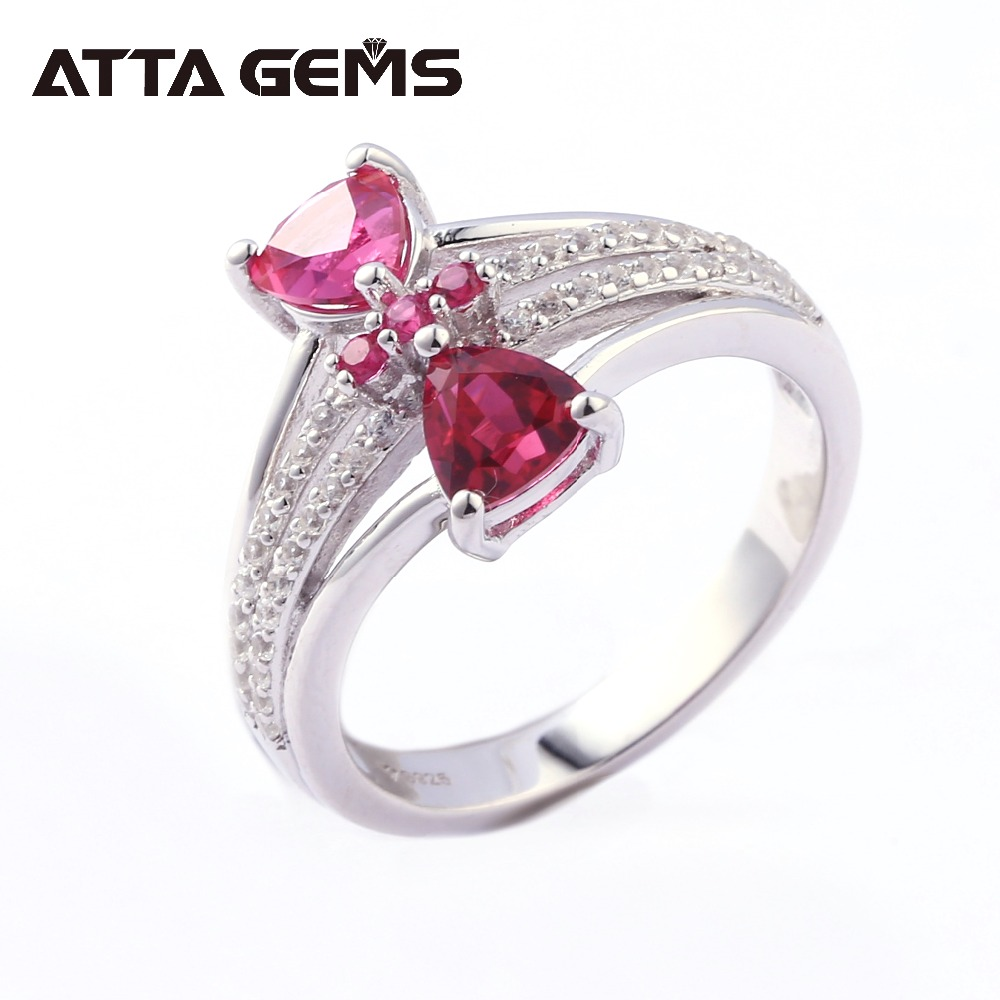 Ruby Sterling Silver Rings Women Wedding Engagement S925 Ring 1.9 Carats Created Ruby Romantic Sweet Style for Ladies Gifts Ruby Sterling Silver Rings Women Wedding Engagement S925 Ring 1.9 Carats Created Ruby Romantic Sweet Style for Ladies Gifts