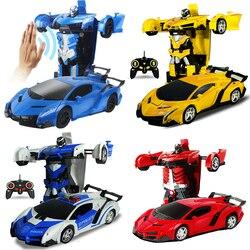 Электрический rc автомобиль спортивный автомобиль ударопрочность Трансформация Робот игрушка удаленного Управление деформации автомобил...