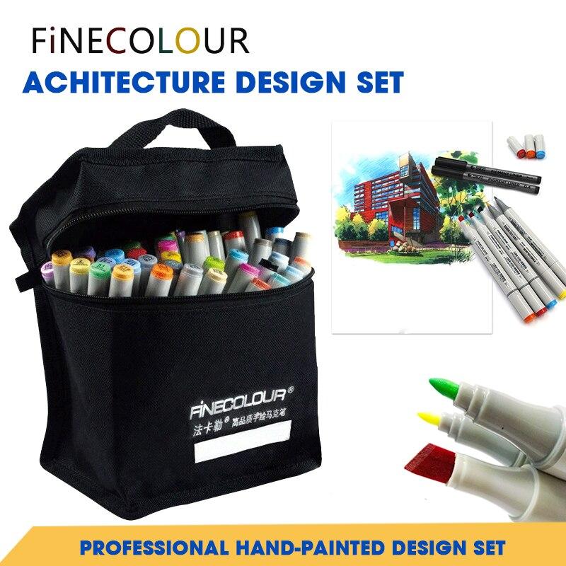 Finecolour 72 Color Set Architecture Set Marker Double Headed Sketch Alcohol Marker Pen Common Set Paint Sketch Art Marker architecture today