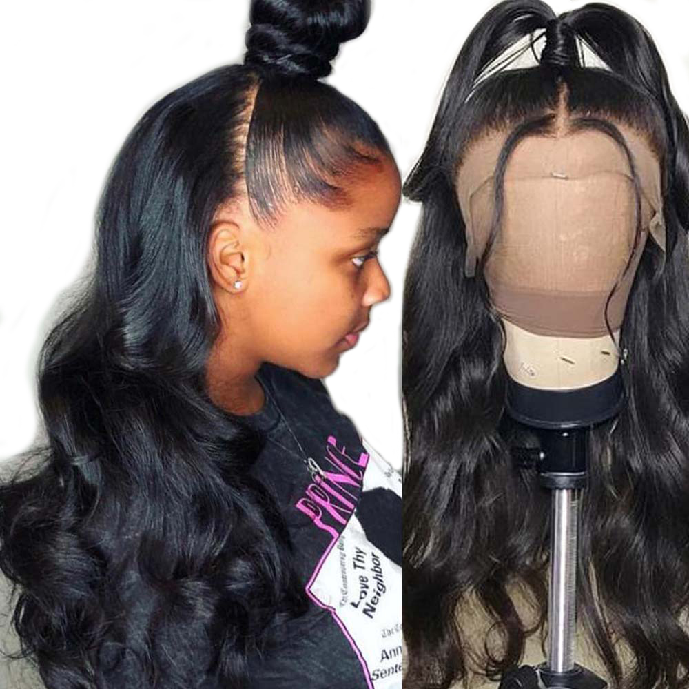 Sapphire 360 Lace Frontal Wig Brazilian Lace Front Human Hair Wigs Remy Straight Per Plucked Bleached