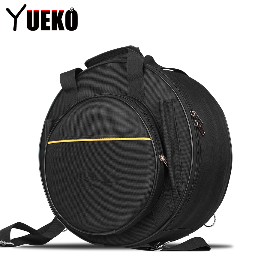 YUEKO Snare Drum Bag Backpack with Shoulder Strap durable Drum Accessories Percussion Instrument Parts suerte 14 3 5 snare drum high quality stainless steel shell die cast hoop drum percussion instrumentos musicais profissionais