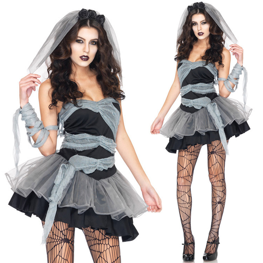 halloween costumes for women mummy bridal corpse bride outfit halloween night club costumes vampire uniform temptation - Halloween Costumes Prices