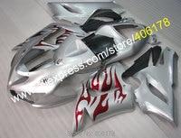 Hot Sales,For kawasaki 636 fairings ninja body kits ZX-6R ZX 6R ZX6R 05 06 2005 2006 Silver fairing kits (Injection molding)