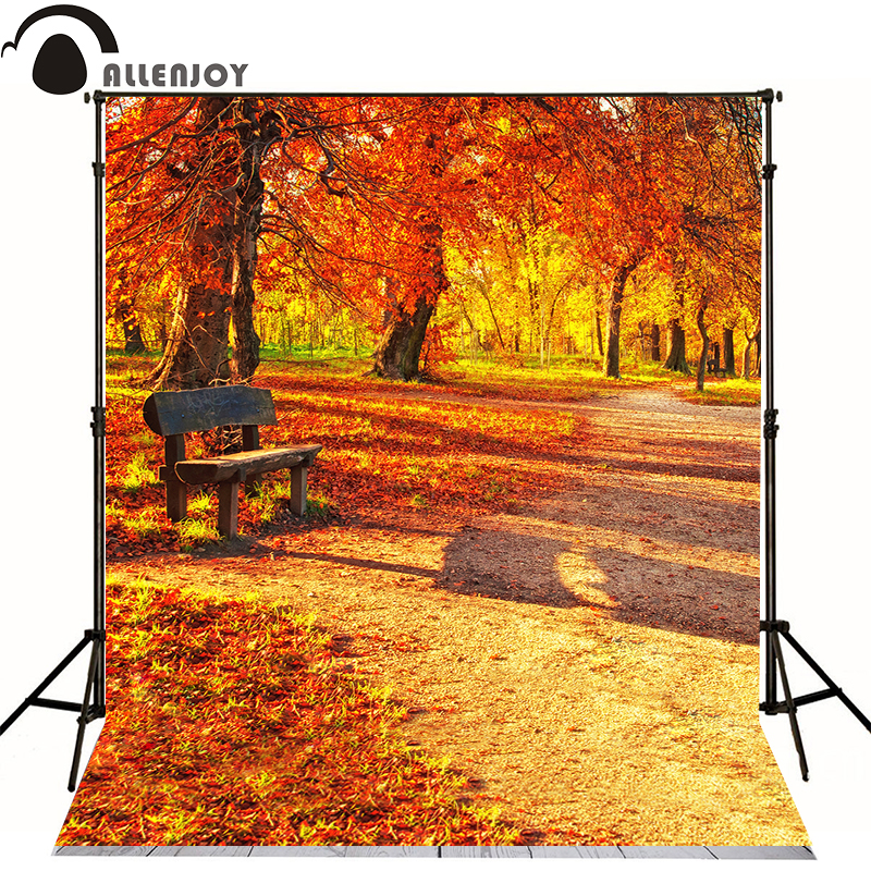 Allenjoy photography backdrops Autumn leaves Orange Park photo baby background Custom All Size