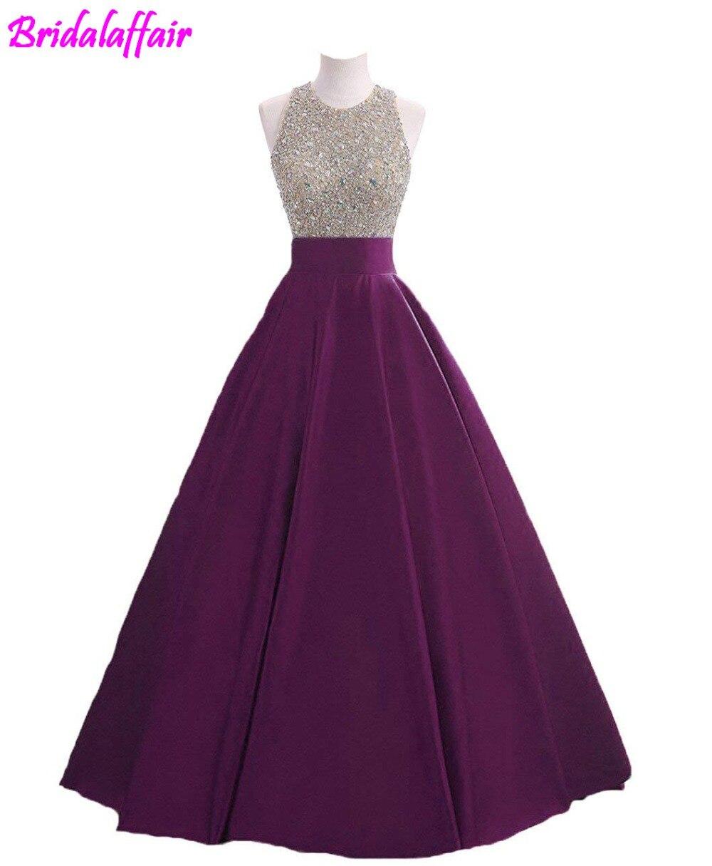 Paillettes pour femmes Keyhole retour robe de bal perlée bal robes formelles longue robe de bal robe formelle robe de soirée 2018 robe - 5