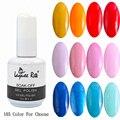 6 unids/set Color moda de uñas herramientas 15 Ml Soak Off Gel UV Set brillo ultravioleta de la lámpara esmalte de uñas de Gel 1-105 Color para elegir