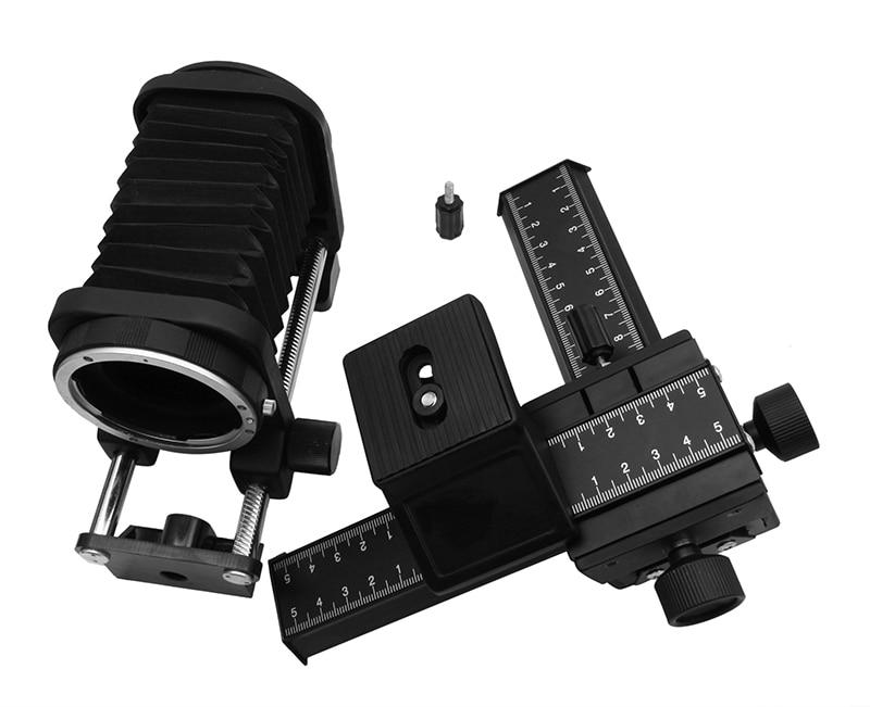 Prolunga Macro Soffietto per Canon DSLR Camera + 4-Way Macro Focusing Guida di ScorrimentoProlunga Macro Soffietto per Canon DSLR Camera + 4-Way Macro Focusing Guida di Scorrimento