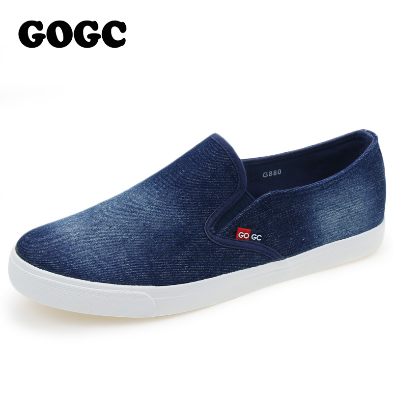GOGC 2017 New Arrival Slipony Men Fashion Men Sneakers Flats Casual Shoes Denim Canvas Shoes Nice Comfortable Men Shoes Loafers