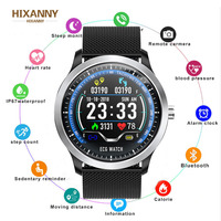 HXANNY N58 ECG PPG smart watch with electrocardiograph ecg display,holter ecg heart rate monitor blood pressure smartwatch