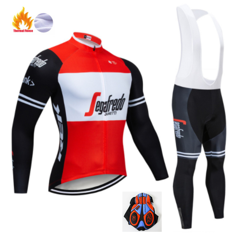 TREKKING 2019 Winter Thermal Fleece Warm Cycling Jersey Set Thermal Cycling Clothing Mtb Riding Clothing Ropa Ciclismo