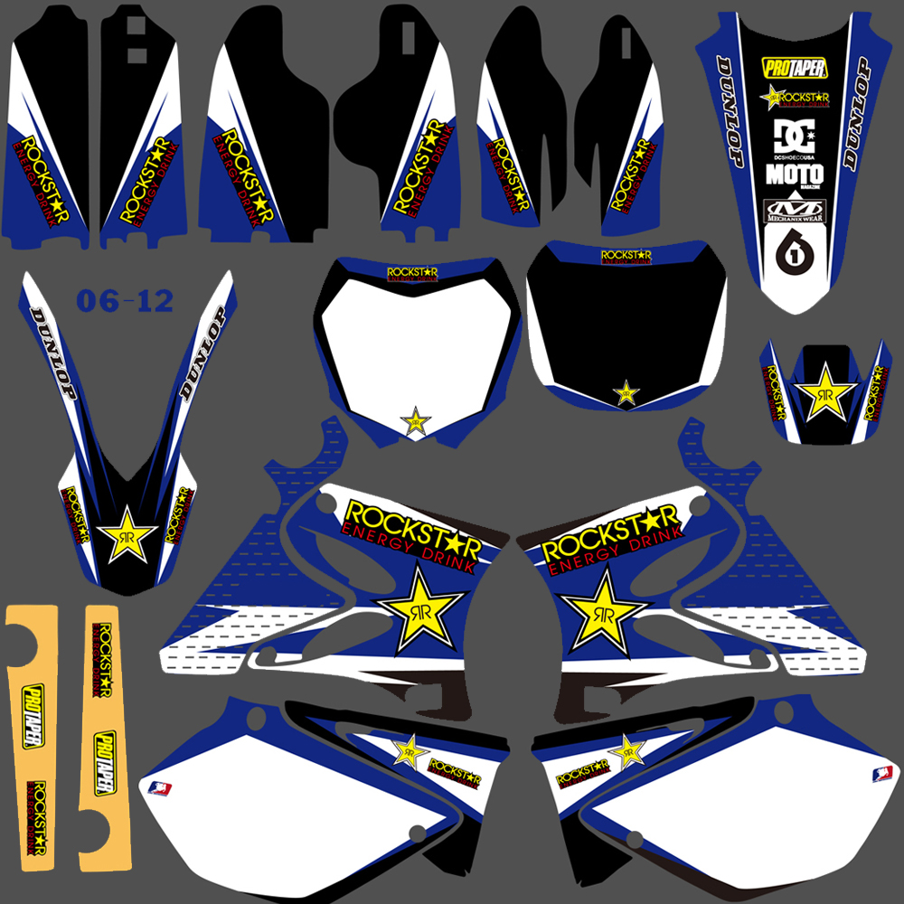 NICECNC Pour Yamaha YZ125 YZ250 YZ 125 250 1996-2014 Autocollant Moto Autocollant Graphique Kit Rockstar Impression 1997 1998 2000-2013