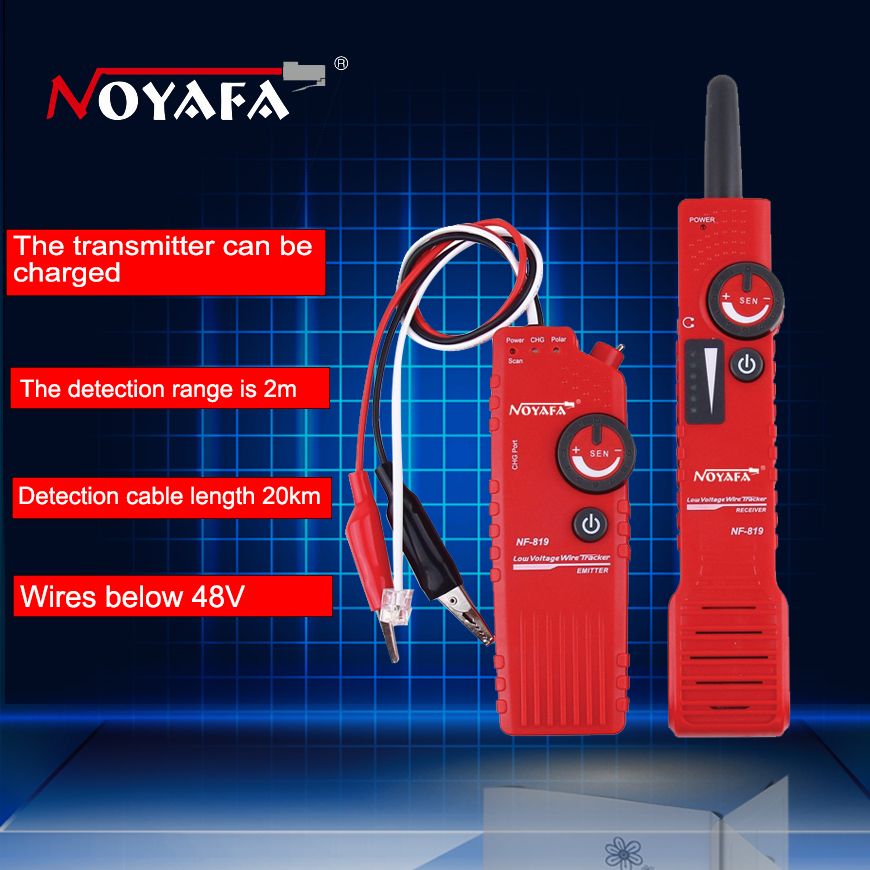 Original Noaya Low Voltage Underground Cable Finder Anti-Interference Low Voltage Wire Tracker RJ45 RJ11 BNC Tester NF-819 цена