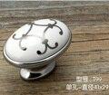 20pcs Single Hole oval knob Zinc alloy ceramic Kitchen cabinet knob drawer pulls furniture handle with silver flower print