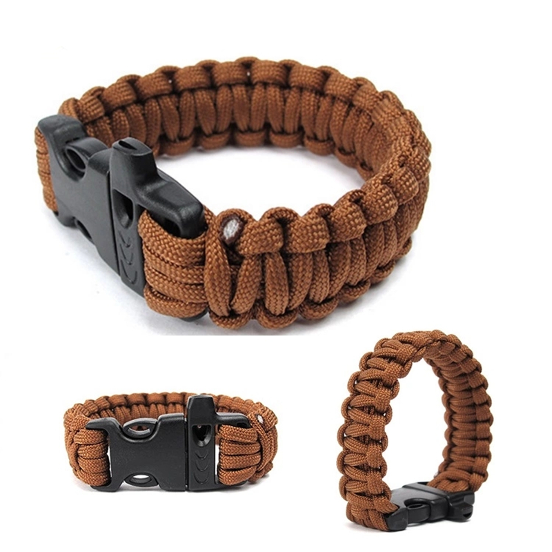 Seven Stamens Outdoor Survival Bracelet Men Women Braided 550 Paracord Multi-function Camping Rescue Emergency Rope Bangles