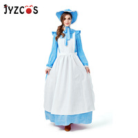 JYZCOS Idyllic Maid Costume Halloween Party Costumes for Women Renaissance Costume European Colonial Period Cosplay Costume