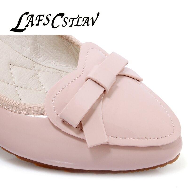 LAFS CSTLAV Sweet Loafer Wedge Heel Mujeres Cómodo Casual Ballet - Zapatos de mujer - foto 6