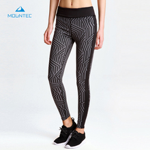 MOUNTEC Sexy Yoga Pants Women Leggings Elastic Gym Fitness Workout Running Tights Compression Trousers