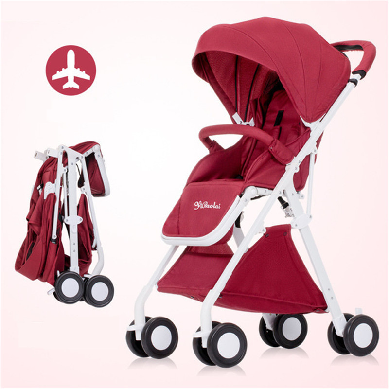 Baby Pushcart 5.1KG Super Portable Folding High Landscape Baby Strollers Comfortable Children Carriage Trolley Kinderwagen Pram 5pcs lot free shipping outdoor 125khz em id weigand 26 proximity access control rfid card reader with two led lights
