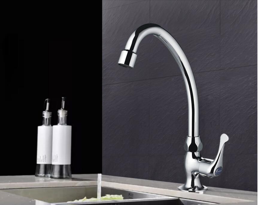 Einzigen kalten küche mischventil wasserhahn Einzigen waschbecken 360 rotierenden waschbecken wasserhahn - 4