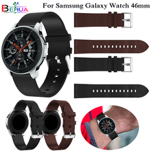 For Samsung Galaxy Watch 46mm band Replacement Genuine Leather with buckle Wrist Strap 22mm watch strap