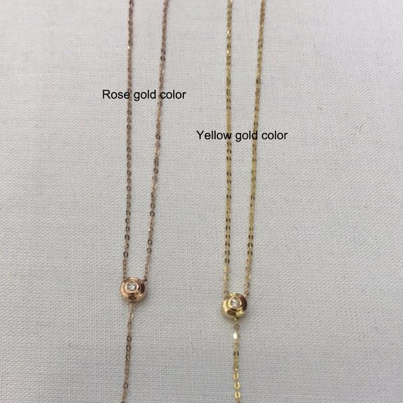 Sinya 18 Karat Au750 Gold Halskette Inlay 0,023 Karat echten - Edlen Schmuck - Foto 4