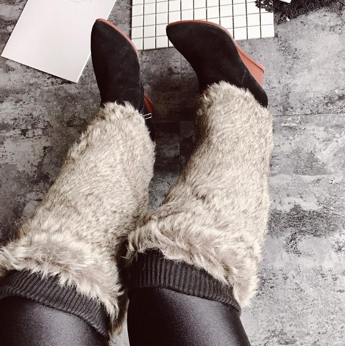 Winter Faux Fur Long Leg Warmers