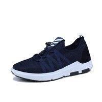2017 Sneakers Online Shop Men Black Blue Walking Shoes Summer Autumn Brand Sport Shoes Men Lace